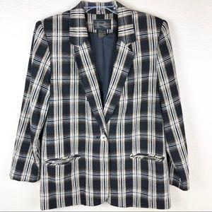 Requirements Plaid Blazer Size 8